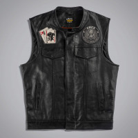 Жилет мужской UNCS JOKER VEST LEATHER - WITH BACK PA Черный