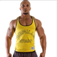 "Майка для бодибилдинга Gorilla Wear ""Logo Stringer"", желтая"