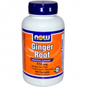 Витамины NOW Ginger Root 550 mg 100 капс.